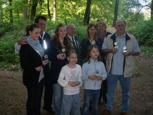 Lisa Marie, Karsten u. Franziska Borgfeld, Rudi Smuda, Tanja Harborth, Renate Stadler, Jrgen Hauke hinten v.l. vorne Nancy und Novalie Sander