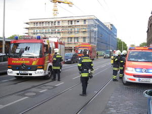Feuerwehr Hannover-Davenstedt untersttzt beim Dachstuhlbrand in Limmer