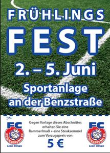 FC Knigsbrunn 'FRHLINGSFEST 2011 ' am  2-5 Juni auf der Sportanlage in der  Benzstrae.