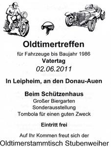 Oldtimertreffen in 89340 Leipheim
