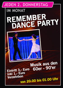 Remember dance party am 9.Juni im AMADEUS