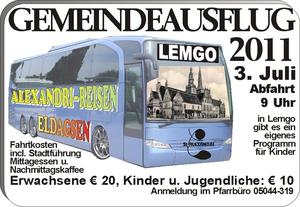 Ziel: LEMGO - Gemeindeausflug der St.Alexandri-Kirchengemeinde Eldagsen