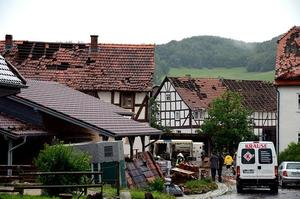 Windhose wütet in Altenlotheim