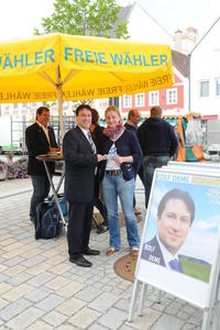 Rolf Deml im Gesprch: Wochenmarkt Pfaffenhofen