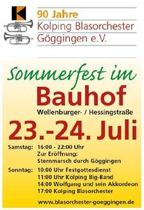 Jubilumsfeier 90 Jahre Kolping Blasorchester Gggingen beim Sommerfest im Bauhof