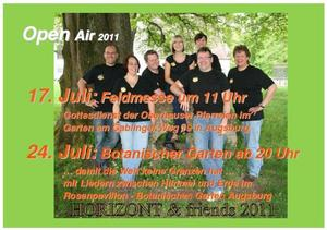 Open Air von HORIZONT & friends im Botanischen Garten am 24. Juli 2011