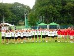 Die Deutsche U19 Damen Lacrosse Nationalmannschaft beim Erffnungsspiel