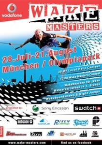 Vodafone Wakemasters im Olympiasee in Mnchen