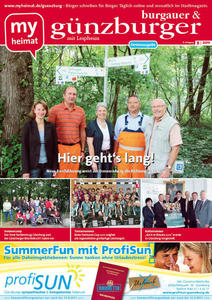 Die August-Ausgabe des 'gnzburgers' jetzt online lesen!