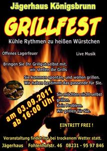 Grillfest im Jgerhaus Knigsbrunn: am 3.September ab 16 Uhr!
