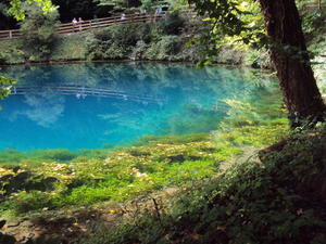Ausflug an den 'Blautopf'