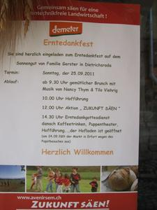 Erntedankfest und Hoffest im Sonnengut in Dietrichsroda