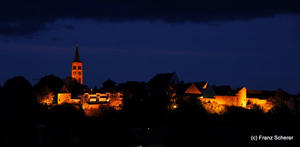 Meine Heimatstadt Friedberg bei Nacht