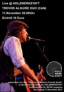 Singer-Songwriter Trevor Alguire (CAN) gatiert in Langenau