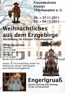 Weihnachtliches aus dem Erzgebirge - im Kloster Thierhaupten