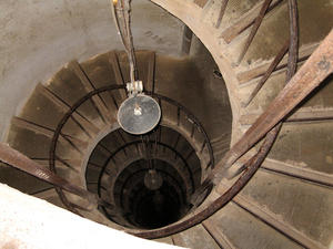 Wendeltreppe in einer Burg der franzsischen Franche-Comt
