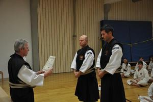 Hohe Auszeichnung fr Shorinji Kempo Lehrer