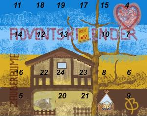 3. Fenster Adventskalender 2011 Schaf zu Bethlehem