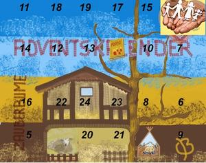 4. Fenster Adventskalender 2011 - Hand - Familie steht hinter dir -