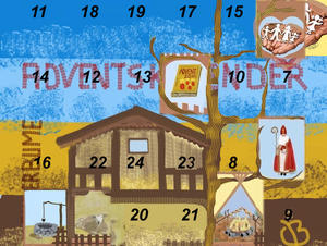 6. Fenster im Adventskalender 2011 - Nikolaus mit Stab