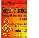 Benefizkonzert zum 4.Advent mit den Singin' Friends
