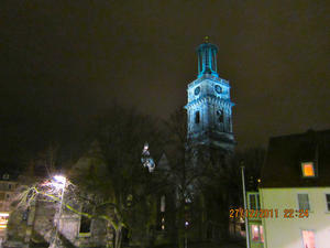 Aegidienkirche Hannover bei Nacht