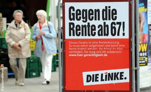 Rente erst ab 67: DIE LINKE war von Anfang dagegen