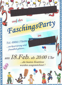 FaschingsParty in Springe !
