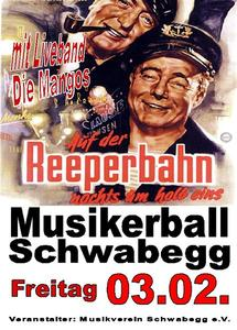 Musikerball Schwabegg auf der Reeperbahn nachts um halb eins