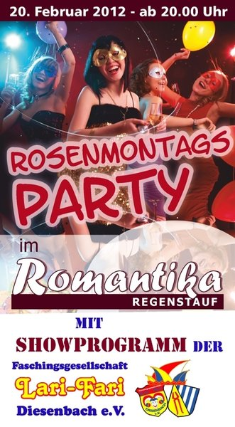 Rosenmontags-Party im Romantika Regenstauf - 90er REVIVAL!