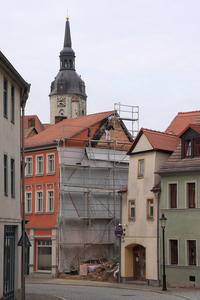 ,,Mein Naumburg,, Blick von der Wenzelstrae zur Wenzelskirche