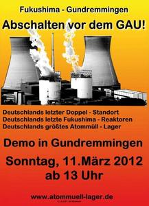 11.3.2012 Jahrestag Fukushima - Demo in Gundremmingen
