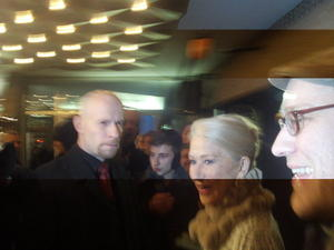Martin Döringer and Helen Mirren (OSCAR) at Kino International Berlin, 09.03.2012