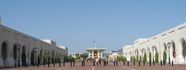 Oman II  - Palast Qasr al-Alam und Groe Sultan-Qaboos-Moschee
