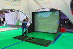 Der Golfsimulator in Aktion.