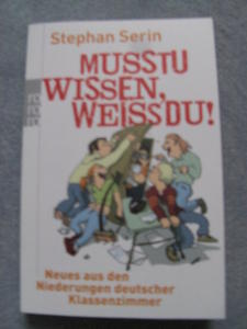 Buchcover von Stephan Serin - Musstu wissen, weiss'du!
