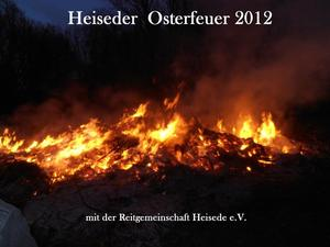 Osterfeuer am Heiseder Badesee 2012