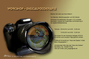 12. Mai - Workshop Digitalfotografie  (1. Termin ist am 5. Mai) in Bad Bibra