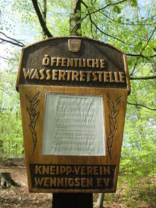 Saisonerffnung der Wassertretstellen im Deister