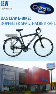 E-Bike-Verleih im CINEPLEX Memmingen