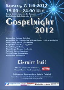 Knigsbrunner Gospelnight 2012 - Ein Event, den man nicht verpassen soll!
