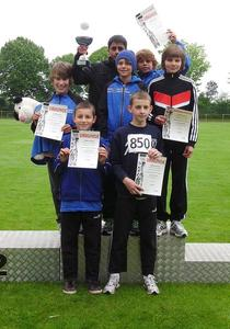 U14 Team der Knigsbrunner Leichtathleten gewinnt den Kreis-Mannschaftstitel