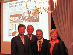 v.l. Rudi Repper, Toni Westner,  Horst Killer und Erika Grlitz