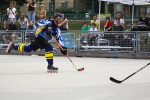 Inline-Skaterhockey Regionalliga Ost - Harter Fight beim 4:3 Heimsieg
