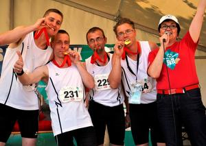 Strahlende Goldstaffel bei den Special Olympics National Games im Mai