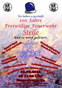 100 Jahre Freiwillige Feuerwehr Isernhagen Ortsfeuerwehr Stelle