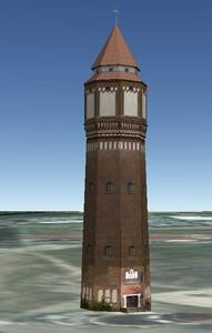 Wasserturm in 3D -  Lehrte