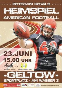 Potsdam Royals im Spitzenspiel gegen die Berlin Capital Colts