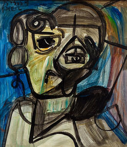 Peter Robert Keil, Dame in Blau, 1959 - Keil ArtCollection Marburg