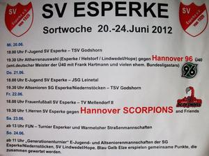 Sportwoche beim SV.Esperke vom 20.-24 Juni 2012.....
